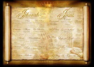Jehovah Jesus large – Names of God