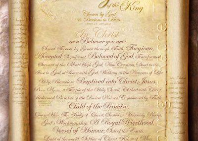 Treasured Daughter of the King Scroll – English