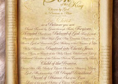 Treasured Son of the King Scroll – English