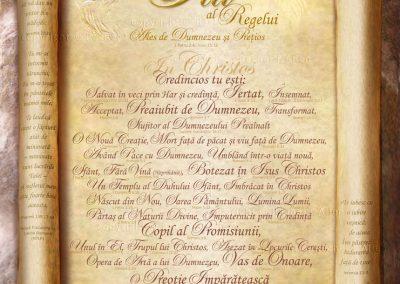 Treasured Son of the King Scroll – Romanian