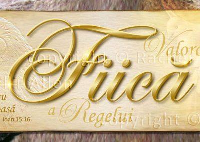 Treasured Daughter of the King Bookmark – Romanian