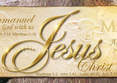 Jesus – Name Above All Names Bookmark – English