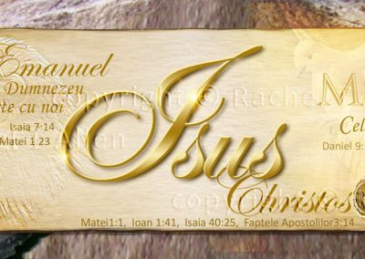 Jesus – Name Above All Names Bookmark – Romanian