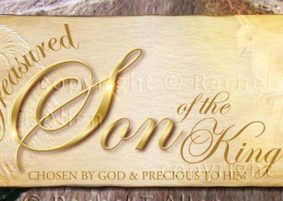 Treasured Son of the King Bookmark – English