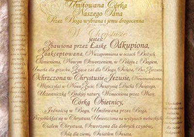 Personalised Treasured Daughter of the King Scroll – Polish