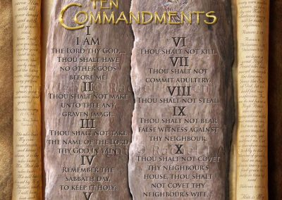 The Ten Commandments Scroll – English